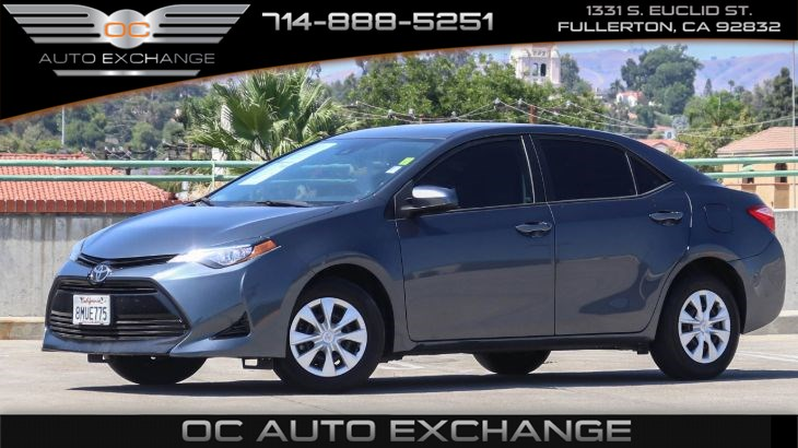 2017 Toyota Corolla L (Back Up Camera, Steering Wheel Controls, BT)