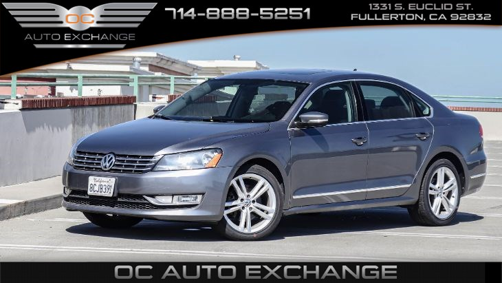 2015 Volkswagen Passat 2.0L TDI SE w/Sunroof & Nav (Heated Seats, BT)