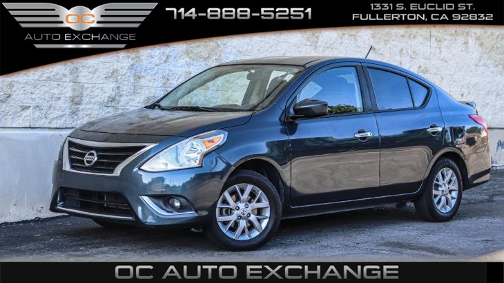 2017 Nissan Versa Sedan SV CVT (Bluetooth, Back Up Camera, Lip Spoiler)
