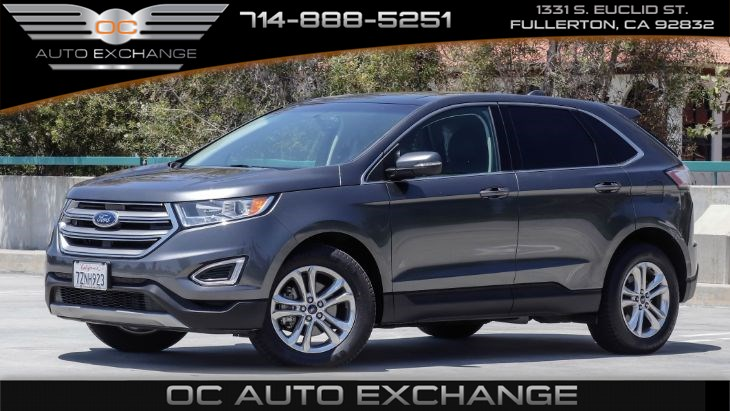 2017 Ford Edge SEL (Push button start, Rearview cam, Sunroof)