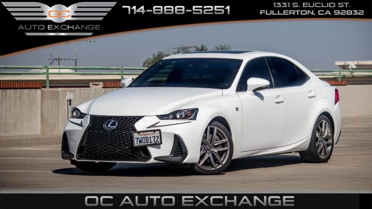 2017 Lexus IS IS Turbo RWD(Heated Seats, Keyless Start, F-Sport)