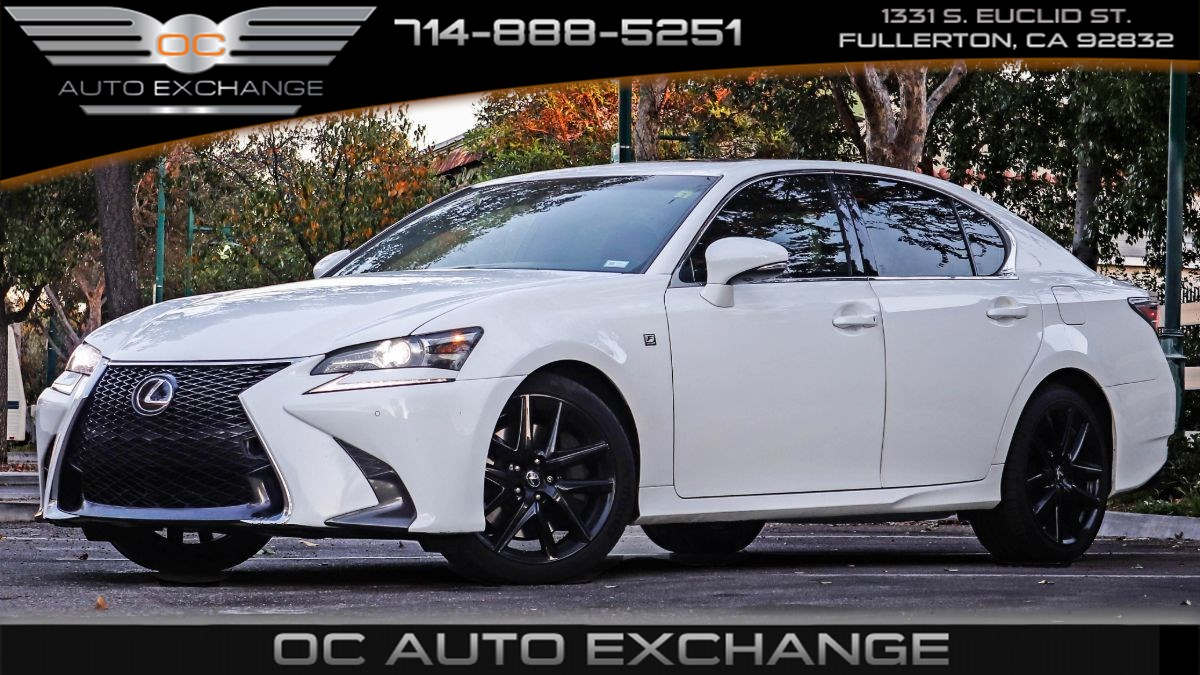 2017 Lexus GS350 (F Sport, Red Leather Seats, Navigation)