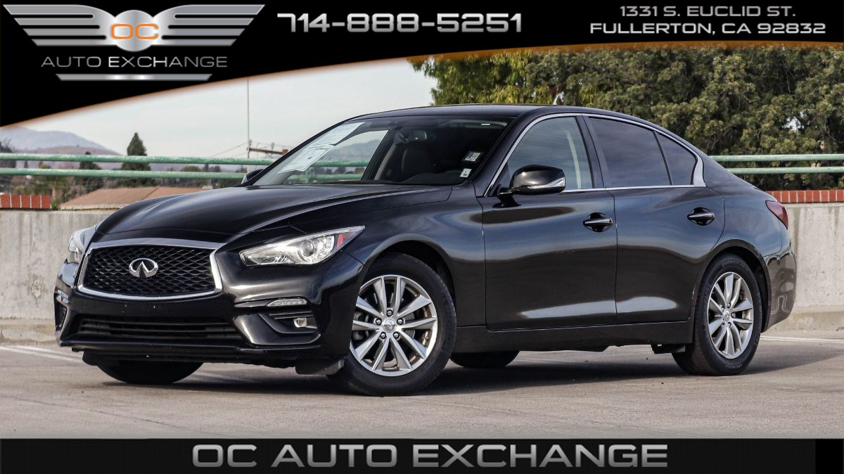 2018 INFINITI Q50 2.0t PURE (Push Button Start, RearView Cam, Fog Lamps)