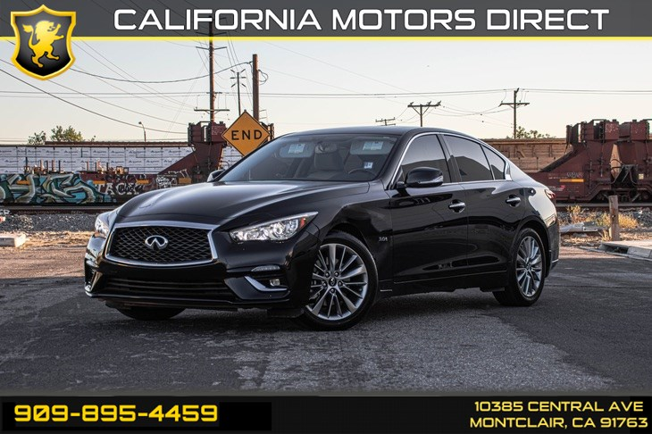 2018 INFINITI Q50 3.0t LUXE (TURBOCHARGED & BLUETOOTH)