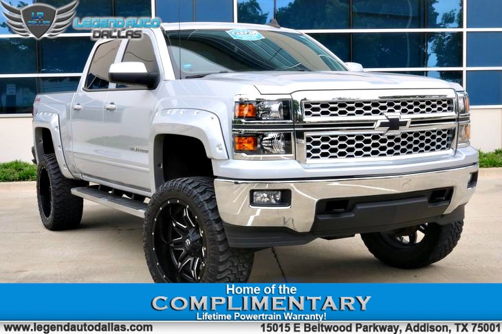 2015 Chevy Silverado Lifted >> 2015 Chevrolet Silverado 1500 Lt One Owner Clean Carfax 4x4 Lifted Truck With P Legend Auto
