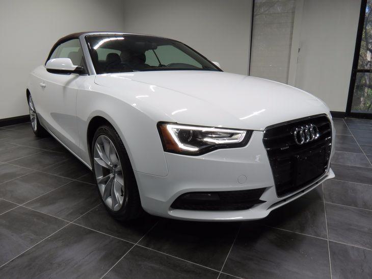 White Audi A Premium PlusNavigationBack Up CameraHeated - All white audi