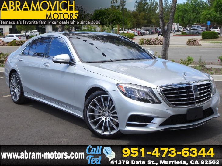 2015 Mercedes-Benz S 550 Sedan - PREMIUM 1 / SPORT PACKAGE - LEASE RETURN
