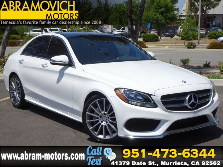 2016 Mercedes-Benz C 300 - MSRP $51,285 - Sport Sedan  - PREMIUM 1 PACKAGE - LEASE RETURN