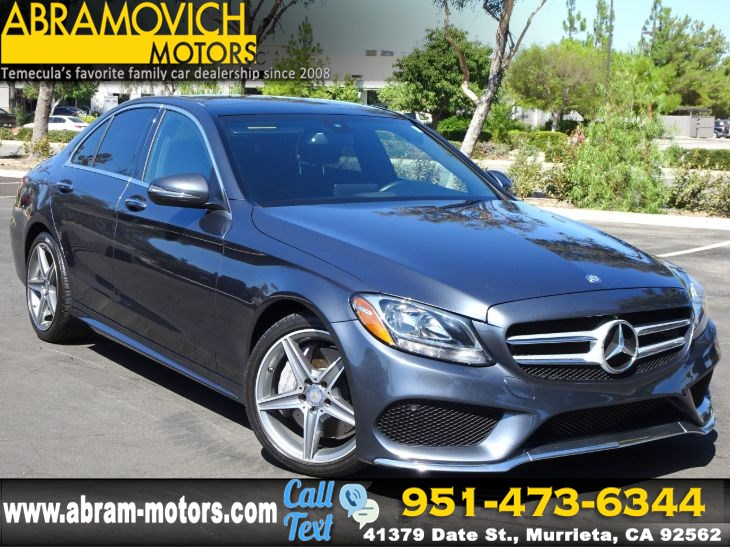 2016 Mercedes-Benz C 300 - MSRP $48,225 - Sport Sedan - 1 OWNER - MULTIMEDIA PKG - PANO ROOF
