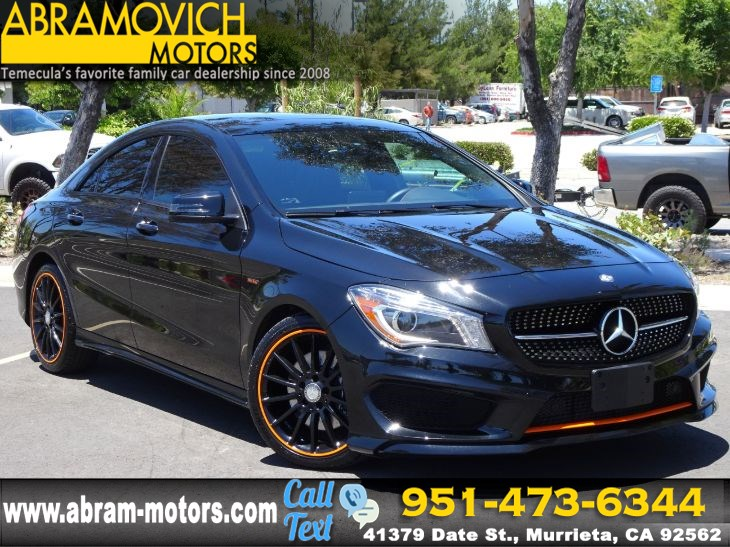 2016 Mercedes Benz Cla 250 Coupe Orange Edition Sport Pkg Keyless Go Abramovich Motors