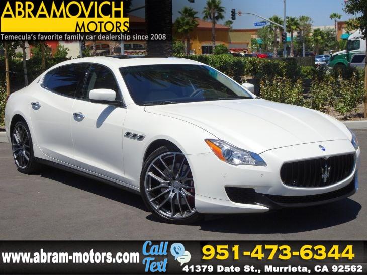 Who Owns Maserati >> 2015 Maserati Quattroporte S Q4 1 Owner Lease Return Abramovich Motors