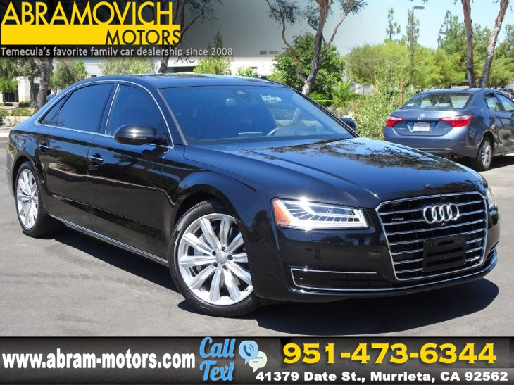 2016 Audi A8 L - MSRP $83,790 - 3.0T - EXECUTIVE PACKAGE - LEASE RETURN