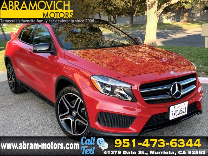 2017 Mercedes-Benz GLA 250 - MSRP $41,305 - SUV - 1 OWNER - PREMIUM / SPORT PKG - NIGHT PKG