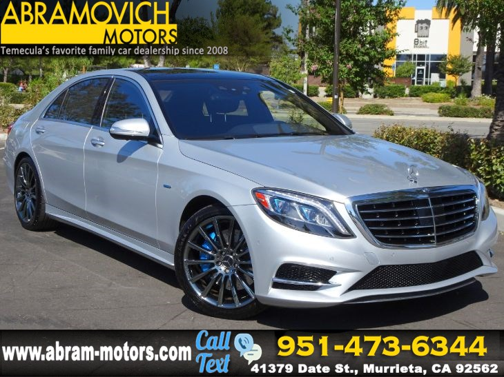 2016 Mercedes-Benz S 550e - MSRP $115,325 - Plug-In Hybrid Sedan - SPORT / PREMIUM PACKAGE