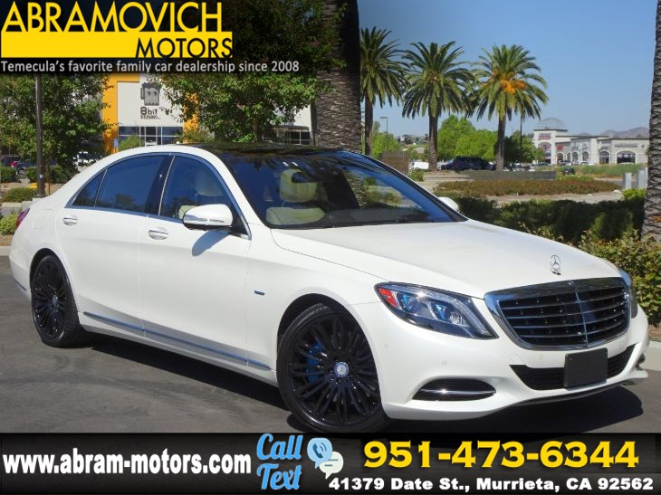 2016 Mercedes-Benz S 550e - MSRP $111,400 - Plug-In Hybrid Sedan - PREMIUM PACKAGE