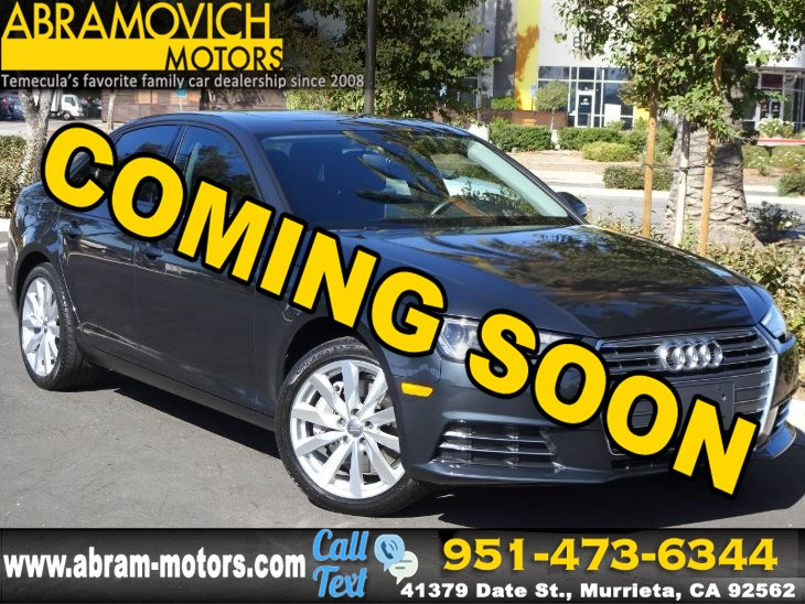 "2017 Audi A4 - MSRP $41,025 - Premium - 18"" WHEEL PACKAGE - CONVENIENCE PACKAGE"