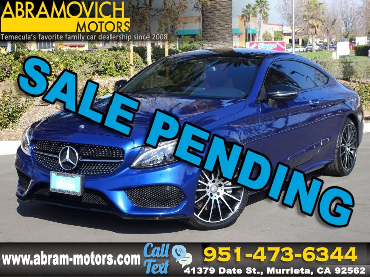 2017 Mercedes-Benz C 300 - MSRP $54,280 - Coupe - NIGHT / PREMIUM 2 / SPORT PACKAGE