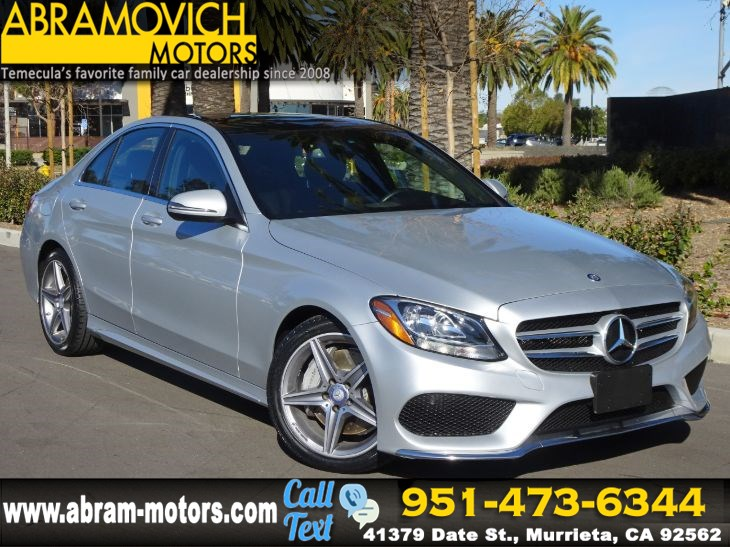 2017 Mercedes-Benz C 300 - MSRP $45,300 - Sedan with Sport Pkg - PANORAMIC ROOF - AMG WHEELS