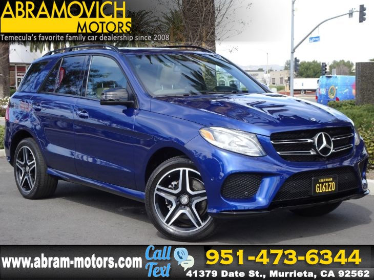 2017 Mercedes-Benz GLE 350 - MSRP $63,495 - SUV - SPORT / NIGHT PACKAGE - KEYLESS GO