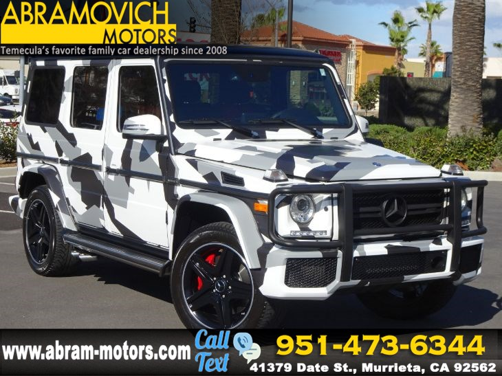 2017 Mercedes-Benz AMG G 63 4MATIC SUV - $151,225 MSRP - LEASE RETURN