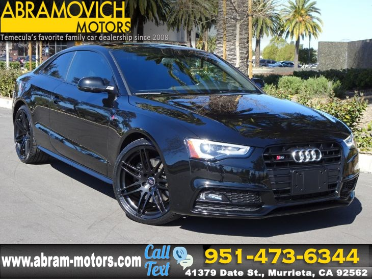 2017 Audi S5 Coupe - MSRP $64,215 - TECHNOLOGY / BLACK OPTIC PACKAGE