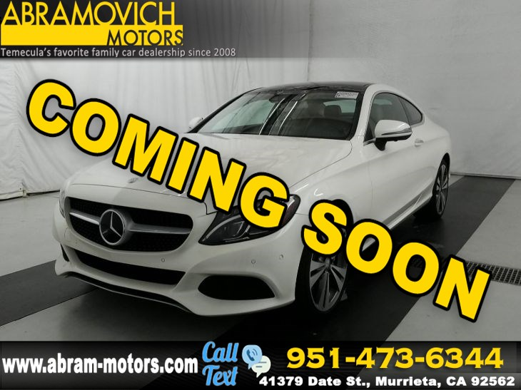 2017 Mercedes-Benz C 300 - MSRP $55,965 - Coupe - PARKING ASSISTANCE / PREMIUM 3 PKG