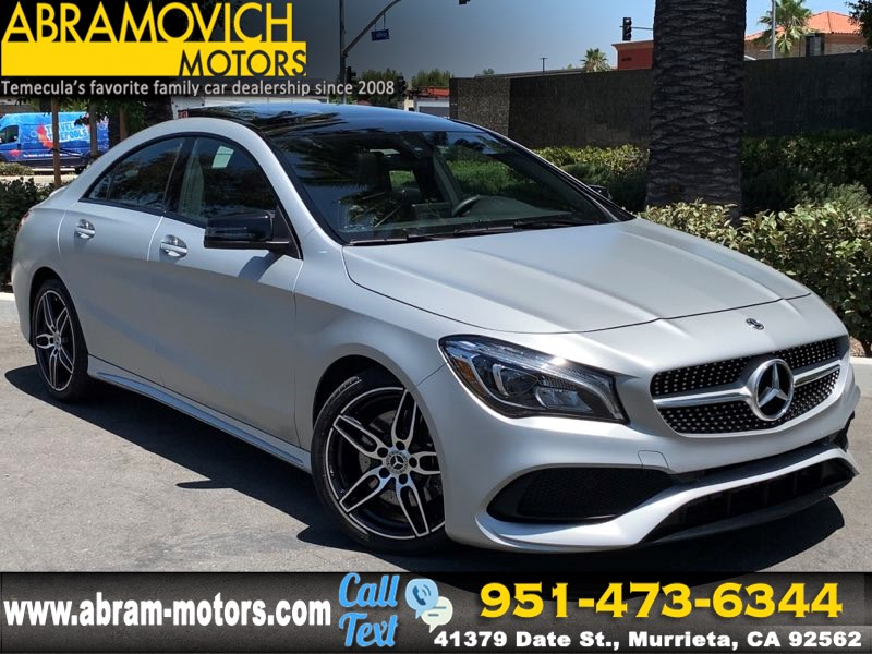 2018 Mercedes-Benz CLA 250 SPORT - MSRP $45,100 - Coupe - KEYLESS START - SPORT PACKAGE