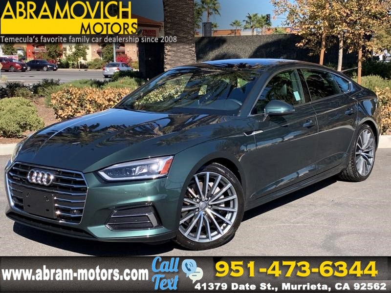 2018 Audi A5 Sportback Premium Plus MSRP $52,685 - NAVIGATION PACKAGE / WARM WEATHER PACKAGE