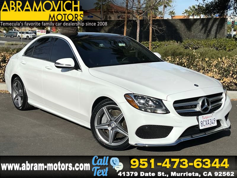 2017 Mercedes-Benz C 300 Sedan with Sport Pkg - MSRP $45,760 - PANORAMIC ROOF - SPORT PACKAGE