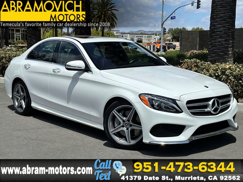 2018 Mercedes-Benz C 300 Sedan - MSRP $48,470 - AMG LINE - LEATHER SEATING PACKAGE