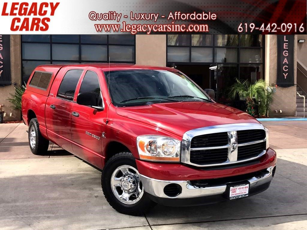 Sold 2006 Dodge Ram 2500 Slt Cummins 5 9 Mega Cab W Camper Shell Low Miles In El Cajon
