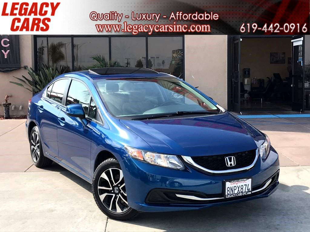2013 Honda Civic Sdn EX w/Back-up Cam/Sunroof