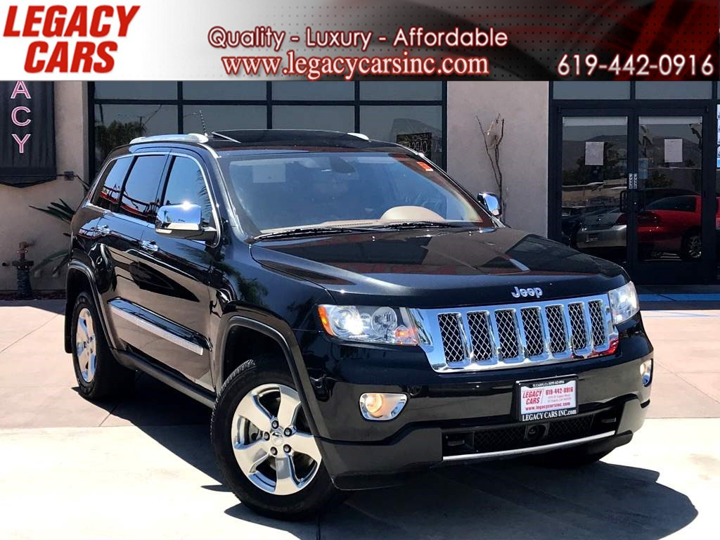 2012 Jeep Grand Cherokee Overland Summit 4x4 HEMI w/Nav/Pano Sunroof/DVD