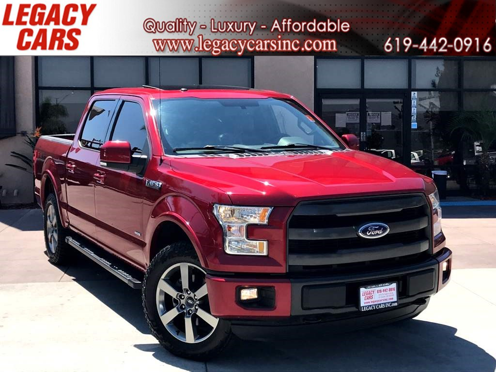 2015 Ford F-150 Lariat FX4 ECOBOOST w/Nav/Dual Sunroof CREW CAB