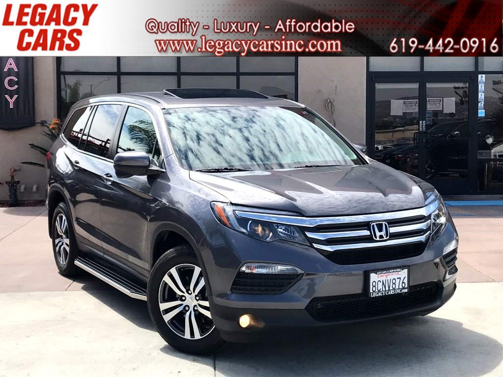Used 2018 Honda Pilot Ex L W Sunroof Backup Camera 3rd Row In El Cajon