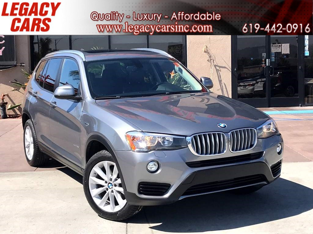 2017 BMW X3 w/Nav/Pano Sunroof sDrive28i