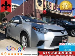 View 2016 Toyota Corolla L**Cloth Seats*Aux  InPut*1 OWNER CARFAX