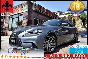 View 2016 Lexus IS 200t F Sport Pkg*Back Up Cam*Blind Spot Monitor