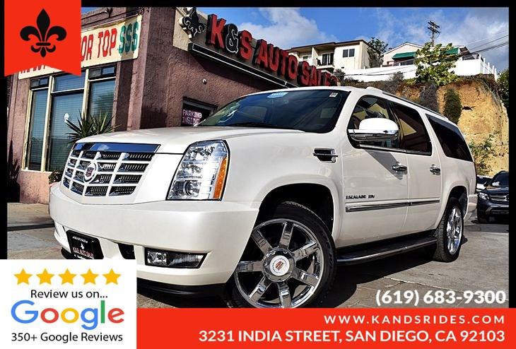 Used 2013 Cadillac Escalade Esv Luxury Awd 3rd Row Leather