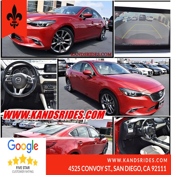 2016 Mazda Mazda6 i Grand Touring*Blind Spot Monitor*1 Owner Bluetooth*Moonroof*BackUp Cam*Premium Snd*