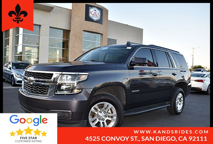 2016 Chevrolet Tahoe LT Third Row Seat Premium Sound Leather 1 Owner Suspension Pkg Navigation Tow Pkg