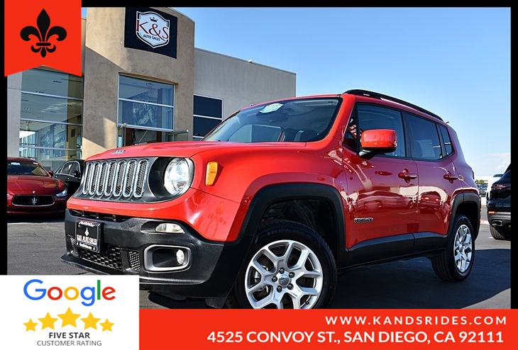 2017 Jeep Renegade Latitude Sport*Keyless Start*Bluetooth *Climate Control*Aux Audio Input*Pwr Windows*
