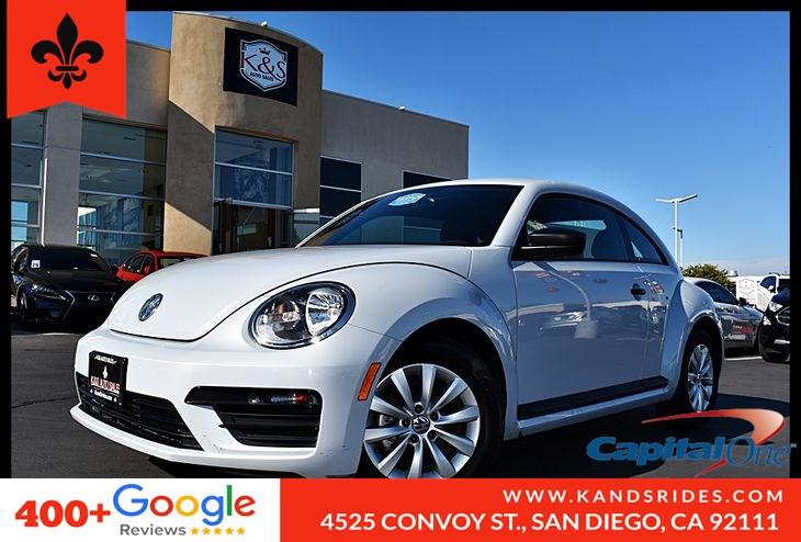 2017 Volkswagen Beetle 1.8T* Pwr Windows* Prem Synthetic Seats Bluetooth**Keyless Entry**Cold A/C*AM/FM Stereo*
