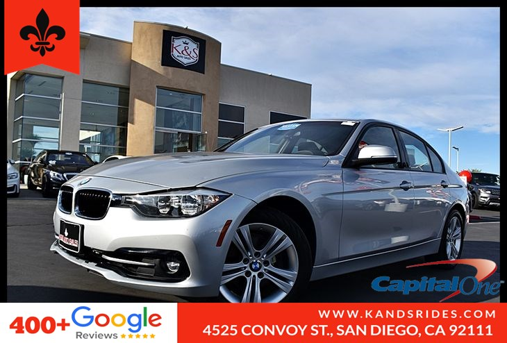 2016 BMW 328i Moonroof Navigation Pkg Heated Seats Leather *Climate Control*Aux Audio Input*Pwr Windows*