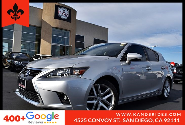 Used 2016 Lexus CT 200h 5dr Sdn Hybrid Bluetooth Fog Lamps Leather