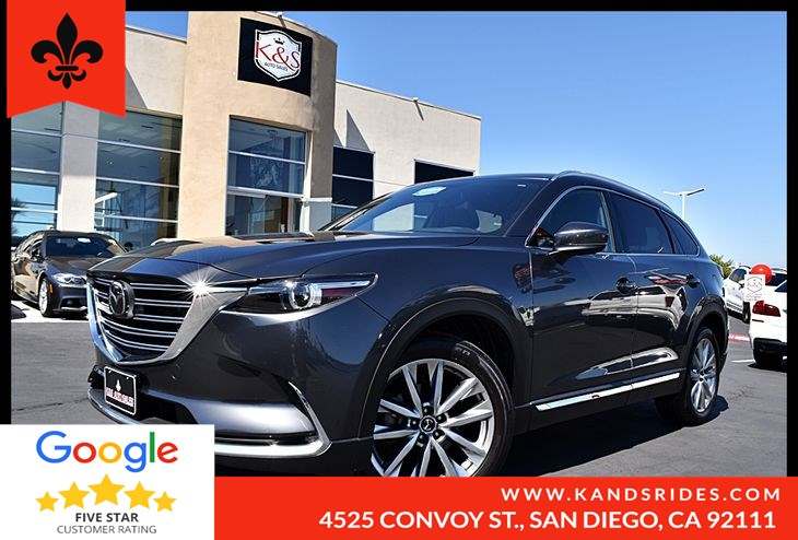 2016 Mazda CX-9 Grand Touring Moonroof Leather Seats 3rd row BackUp Cam BSM Cross Trafic Heads up Display Nav