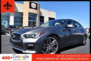 View 2016 INFINITI Q50 3.0t Sport  RWD Moonroof Leather Seats 1 Owner