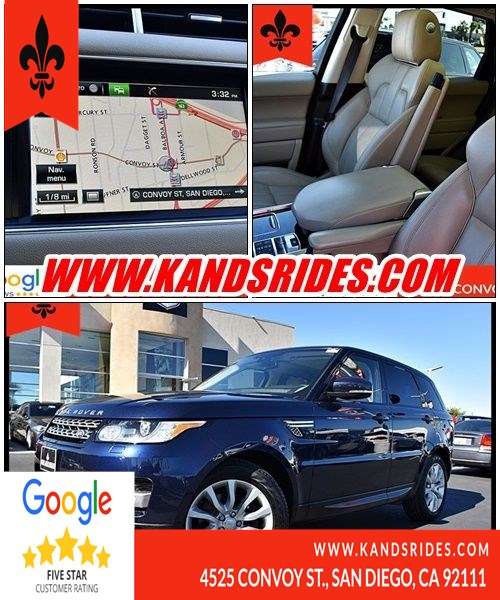 2015 Land Rover Range Rover Sport HSE Luxury Pkg Blind Spot Alert Navigation Leather Seats BackUp Cam Premium Sound