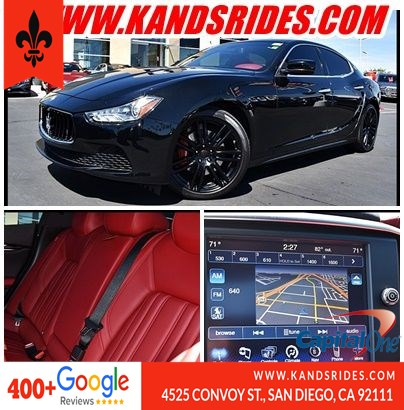 2016 Maserati Ghibli Sport*Touring W/Sunroof*Navigation*BackUp Leather Seats Heated Seats Keyless Start Sat Radio