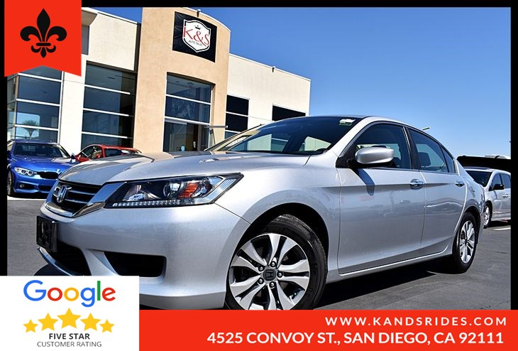 2014 Honda Accord Sedan CVT LX BackUp Cam Bluetooth 1 Owner Multi Zone A/C Auxiliary Input MP3 Player
